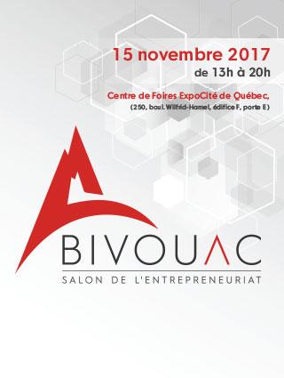 Venez nous rencontrer au Bivouac de Québec 2017 – Salon de l'entrepreneuriat